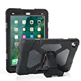 ACEGUARDER iPad Pro 9.7 Case for Kids [Shockproof][Impact Resistant] Rugged Protective Case Cover with Kickstand for 9.7 Pro ipad Case (2016)—Not Fit for 2017 Model New iPad 9.7 inch (Black)