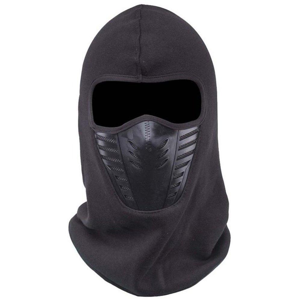 ETCBUYS Pasamontañas Cara Máscara, Invierno Polar Resistente al Viento de esquí Máscara Completa Headwear para Hombres y Mujeres, Negro
