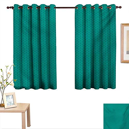 BlountDecor Teal Decor Curtains by Knitting Inspired Pattern Sewing and Crafting Hobby Themed Design Monochrome Image Print 63