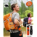 Udap Bear Spray Safety Orange with Color Griz Guard Holster 10 Includes Exclusive Griz Guard Holster Most Powerful Bear Spray Fog Developed By A Bear Attack Survivor