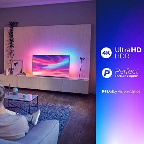 Televisor Philips Ambilight 50PUS7304/12 Smart TV de 126 cm (50 pulgadas) con 4K UHD, LED TV, HDR 10+, Android TV, Google Assistant, Dolby Atmos y compatibilidad con Alexa, color plata claro: Amazon.es: Electrónica