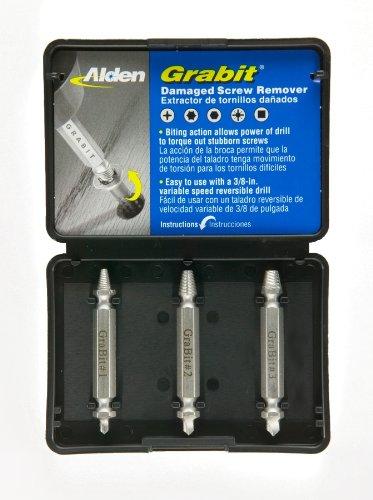 Alden 8530P Grabit Damaged Screw Remover 3 Piece Kit As Seen On Tv Screwdriver