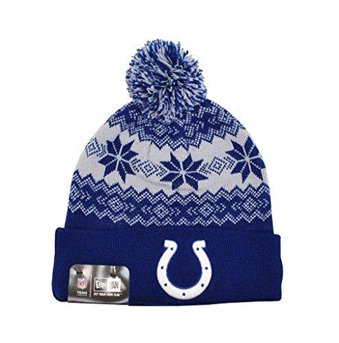 踊り子ステージ献身New Era Indianapolis Colts Snowburst冬ニットポンポン付きニット帽