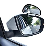 right side car mirror - YASOKO 360 degree adjustable Wide Angle Side Rear Mirrors blind spot Snap way rear view mirror universal (Right, Black)