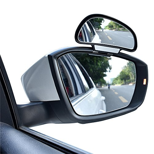 Sides Right Angle - YASOKO 360 degree adjustable Wide Angle Side Rear Mirrors blind spot Snap way rear view mirror universal (Right, Black)