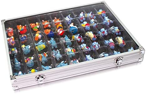 SAFE Aluminum Collecting Display Case for Rocks, Action Figures and More