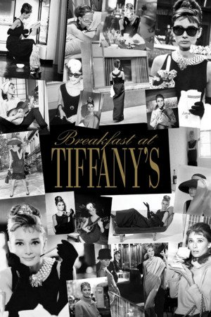 Poster Audrey Hepburn Breakfast At Tiffany S Collage