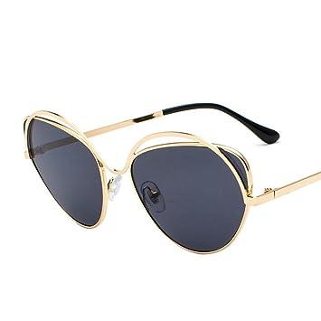Aoligei Dame de lunettes de soleil cadre métallique ronde face Corée du Sud marée lunettes rondes personnalité masculines pas cheres 4ZH7O2I