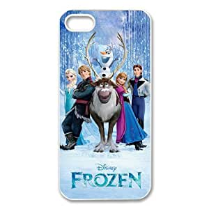 iPhone 5/5S Case,Case for iPhone 5S,iPhone 5 case - Fashion Style New Disney Anna Elsa Olaf Painted Rubber TPU Case Cover For iPhone5 5S