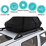 Moroly Car Top Carrier Waterproof Rooftop Cargo Carrier Bag Includes Heavy Duty Straps for Vehicle Car Truck SUV Vans,Travel Cargo Bag Box Storage Luggage (15 Cubic FEET(41' x 35' x 17'))