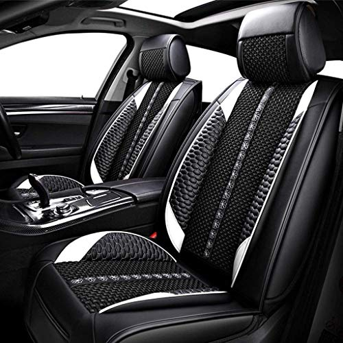 HYLH Car Seat Covers Set Leather, Universal 5 Seats Seat Cushions for the front seats and rear seat Seats (Color : Black): Kitchen & Home