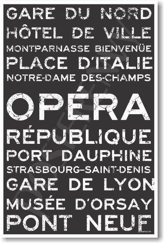 Paris Train Station Metro Signs - NEW World Travel - Sign Metro
