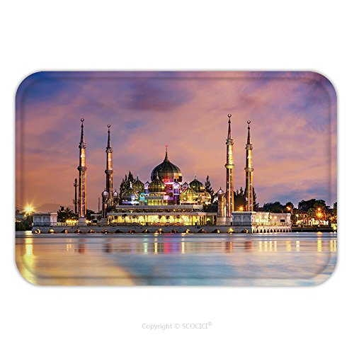 [Flannel Microfiber Non-slip Rubber Backing Soft Absorbent Doormat Mat Rug Carpet View Of Crystal Mosque In Kuala Terengganu Malaysia 386140642 for Indoor/Outdoor/Bathroom/Kitchen/Workstations] (Dark Crystal Beetle Costumes)
