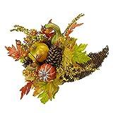 Northlight 18' Autumn Harvest Gourds and Maple Leaf Cornucopia Decoration
