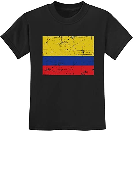 63812e54a0d TeeStars - Vintage Colombia Flag Retro Style Colombian Youth Kids T-Shirt  X-Small