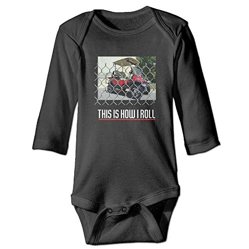 Iergw Golf Cart This Is How I Roll Baby Onesie Cotton 100  Long Sleeves Bodysuits For Infant Boys Girls