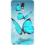 Casotec Flying Butterflies Design Hard Back Case Cover for Samsung Galaxy Note 3 Neo