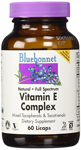 Bluebonnet Natural Full Spectrum Vitamin E Complex - 60 Licaps](Natural Vitamin E Capsules)