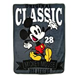 """Disney's Mickey Mouse,A Classic Micro Raschel Throw Blanket, 46"""" x 60"""", Multi Color"""