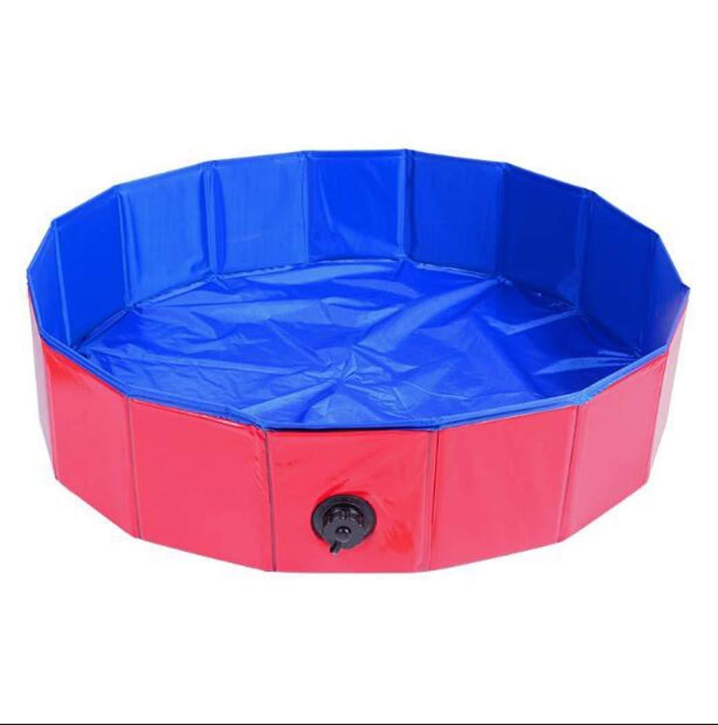 Red X-Large Red X-Large Dog Bath tub, Dog Pot cat tub tub, Collapsible Swimming Pool, Bulldog Large Dog Bath tub Supplies,Red,XL