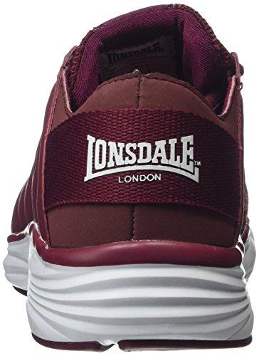 Lonsdale Peru, Zapatillas de Deporte Para Exterior Para Mujer Rojo (Dark Burgundy/burgundy)