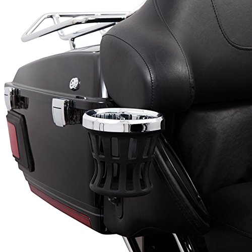 Ciro Drink Holder Passenger Perch Mount '14-up Harley-Davidson, Chrome 50422 (Cup Holders For Motorcycles)