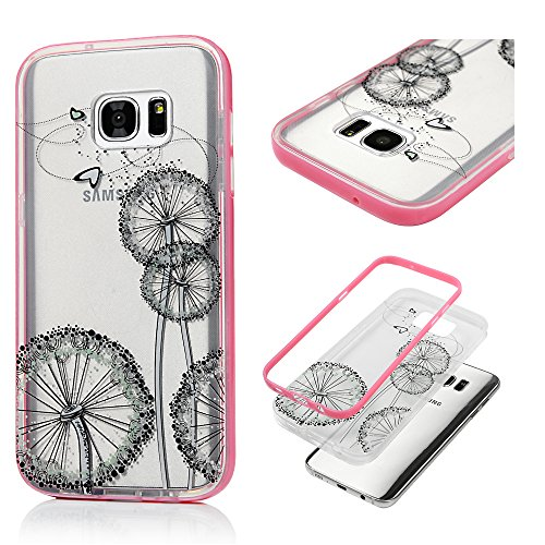 S7 Edge Case,Samsung Galaxy S7 Edge Case,Protective 2 in 1 Dual Layer Soft TPU Rubber Back Cover with Detachable Hard PC Bumper Fashion Print Case By Badalink - (Halloween Couture Fashion Show)