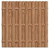 wood fence styles Outdoor Essentials Pressure-Treated Cedar-Tone Multi-Style Fence Panel Kit, 6 ft. x 6 ft.