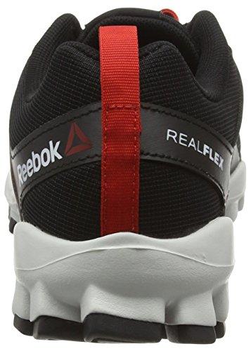 Reebok Realflex Train 4.0 - Zapatos deportivos Hombre Negro (Black/Motor Red/Skull Grey)
