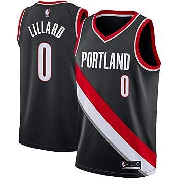 NBA Blazers Lillard 0 Swingman Men Jersey Hombres (Negro, XXL): Amazon.es: Deportes y aire libre