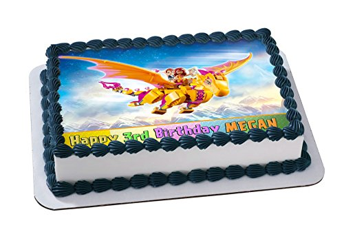 Lego Elves Topper Personalized Birthday 1/4 Sheet Decoration Custom Sheet Party Birthday Sugar Frosting Transfer Fondant Image ~ Best Quality Edible Image for cake