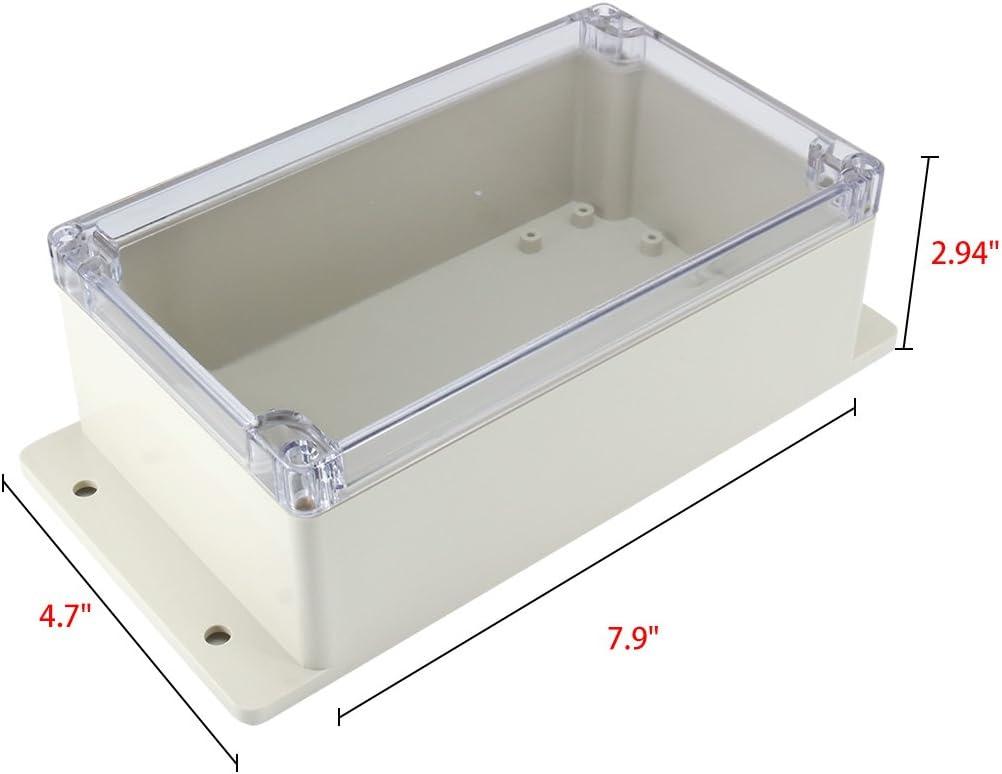 158mmx90mmx46mm ABS JunKtion Kiste Universal Projekt Gehäuse mit PC Deckel