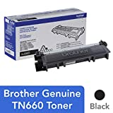 Brother Genuine High Yield Toner Cartridge, TN660, Replacement Black Toner, Page Yield Up To 2,600 Pages, Amazon Dash Replenishment Cartridge: more info