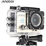 Andoer Q3H 2 Ultra-HD Wifi Sports Action Camera Support 4K 25FPS 1080P 60FPS 16MP 170 Degree Wide Angle with Diving 30-meter Waterproof Case