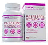 Shape Organics Raspberry Ketones Pure for Fat Reduction and Weight Management, No Additives, No Added Caffeine