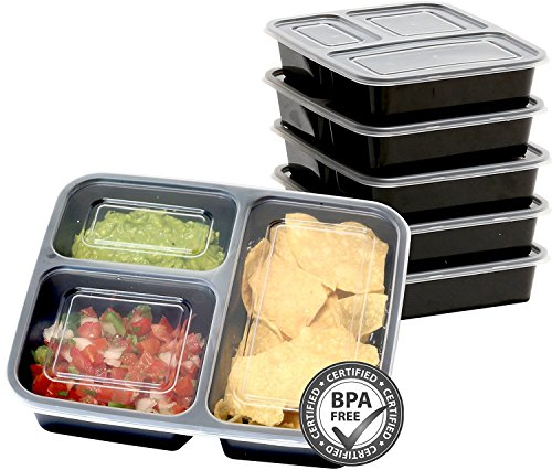Pack SimpleHouseware Compartment Reusable Container