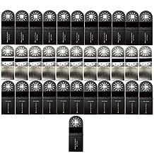 ZFE Oscillating MultiTool Saw Blade For Bosch Fein Dremel Makita Multimaster Multifunction Tools Pack of 37Pcs