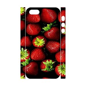 3D Strawberry 01 iPhone 5,5S Case, Cute Cheap Case Iphone 5s Cases For Girls Cheap Sexyass {White} by ruishername