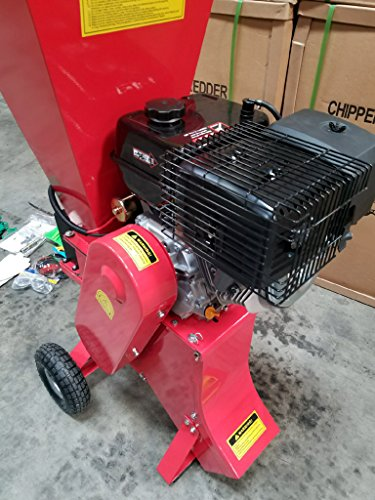15HP 420CC Gas Powered Wood Chipper Shredder, 4'' Capacity, with Mulch Bag and Electric Start by MCP Samson Chipper (Image #2)