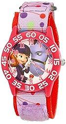 Disney Kids' W001960 Sofia Analog Display Analog Quartz Pink Watch