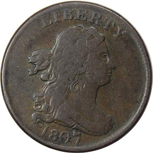1807 1/2c Draped Bust Half Cent Penny Coin VF Very Fine