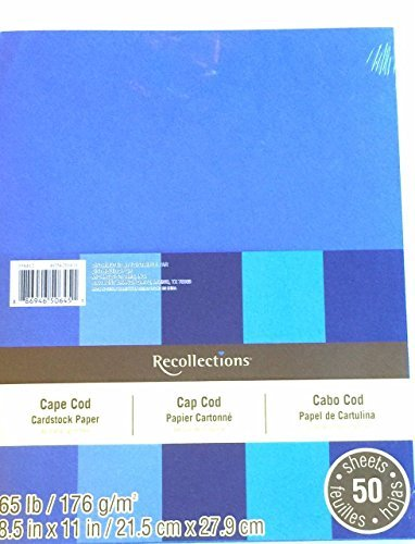 Recollections Cardstock Paper, 8 1/2 X 11 Cape Cod Blues - 50 Sheets (Value 2-pack)