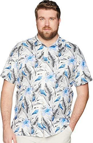 Tommy Bahama Big & Tall Men's Big & Tall Tulum Bloom Shirt Marble Crest 5XB