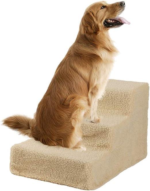 YZONG Portátil Mascota Escalera,3 Paso para Los Gatos Perros Desmontable Lavable Mascota Escalera,Gato Perro Escalera Alto Camas,Pequeña Grande Perro Pasos Escalera: Amazon.es: Hogar