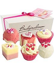 """BRUBAKER Cosmetics 6-częściowy zestaw pralinek kąpielowych """"Blossom & Hearts"""" ręcznie wykonany i wegański"""