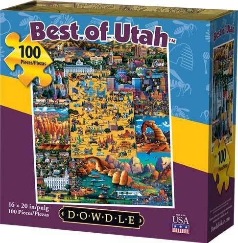 Dowdle Jigsaw Puzzle - Best of Utah - 100 Piece