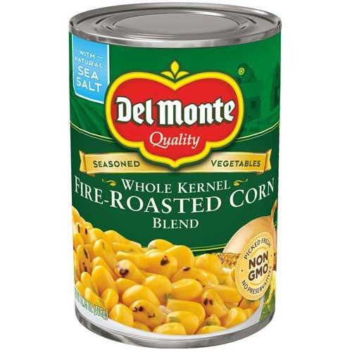 Del Monte Whole Kernel Fire Roasted Corn Blend, 14.75 Ounce - 12 per case.