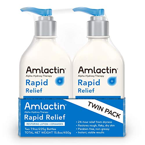 AmLactin Rapid Relief Restoring Lotion + Ceramides Twin Pack, (2) 7.9 Ounce Bottles, Paraben Free ()
