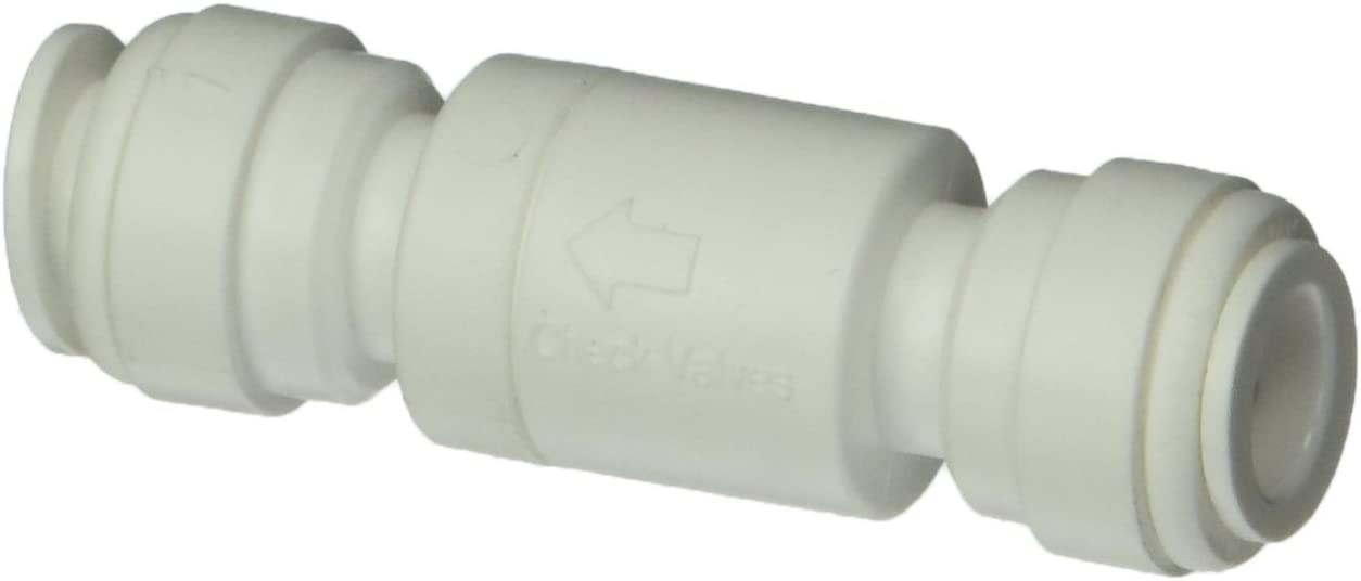 YINGJUN Valves 3//8 inch OD Push Fitting Air Pneumation Inline Check Valve