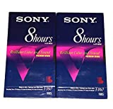 Sony Premium Grade T-160 Eight 8 Hour EP Mode Brilliant Color and Sound VHS Video Tapes - 2 Pack